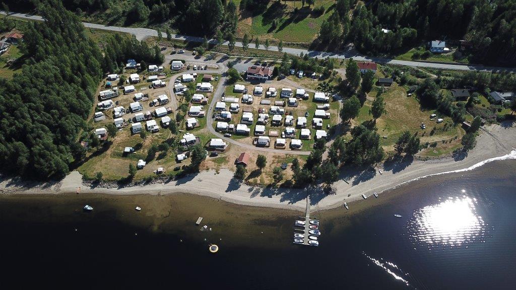 Sperillen camping dronebilde
